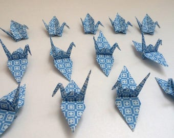 Set of origami cranes: Collection of Old Tiles