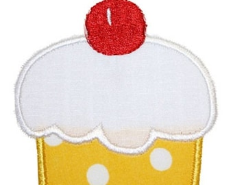 126 Cherry Cupcake Machine Embroidery Applique Design