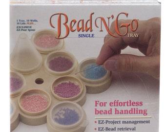 Single Bead N' Go Tray, Portable Bead Storage, Bead Container, Bead Tray Organization