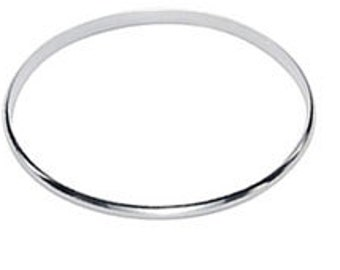 Sterling Silver Bangle Round Flat Edge Solid Plain Stacker Sterling 925 UK