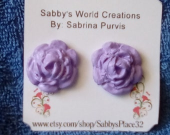 Mix Earring Set A6-Stud Earrings,Rose,Polymer clay,Plastic acrylic Beads,Felt Flower,Jewelry,Free Shipping.