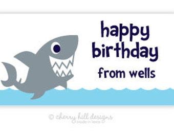 "Shark Gift Tag - set of 24 4"" x 2"""