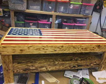 Coffee table, American flag