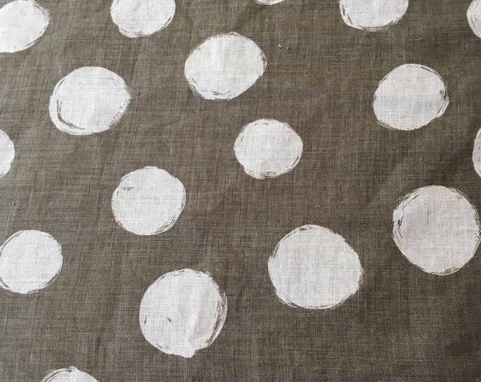 Kokka- Wide Dot in Gray- Fine Linen