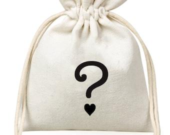 Gender reveal favour bag, gender reveal party, question mark, gender reveal deco, gender reveal gift, gender reveal candy, gender reveal bag