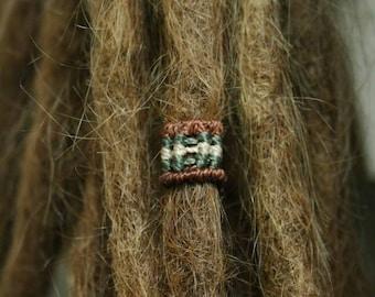 Macrium-Jewellery, macrium Dreadperle, brown Beige Green