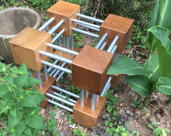 Quad Cubes 2x2 Garden Sculpture