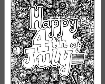 Circles coloring page antistress printable adult coloring for 4th of july coloring pages for adults