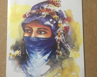 Watercolour painting of 'The Nomadic Woman'