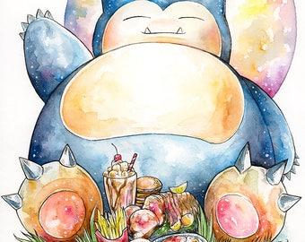 A3 Pokemon Print ~ Snorlax