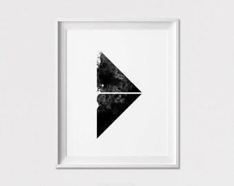 Minimal Print, Wall Art Poster, Scandinavian Art, Black and White, Home Decor, Geometric Print, Wall Decor, Minimalist Poster, ArtFilesVicky