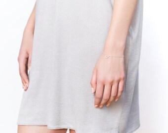 Dainty half-moon bracelet