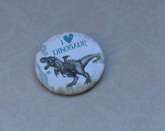Tyrannosaurus Rex dinosaur pin badge