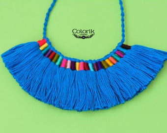 NEW!! Tassel necklace, Mexican jewelry, multitassel.