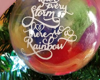 Rainbow Baby Ornament, After every store is a rainbow, Rainbow Ornament , First Christmas ornament, Rainbow Baby, Rainbow Birth