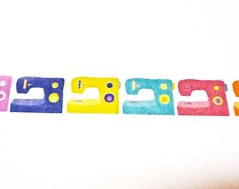 Sewing Machine Washi Tape, Washi Tape, Sewing Supplies, Planner Washi, Planner Tape, Scrapbook Supplies, Craft Supplies