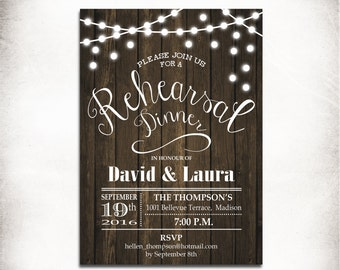 cowboy boot rustic rehearsal dinner invitation country