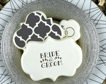 Wedding Bells Basic Words Cookie Stencil by Confection Couture