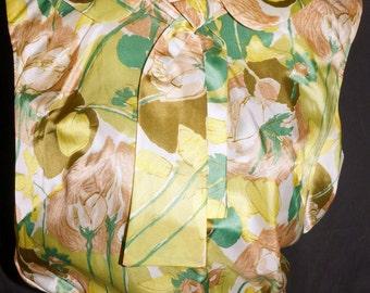 1960s Sleeveless Blouse Sz 4 Vintage Retro