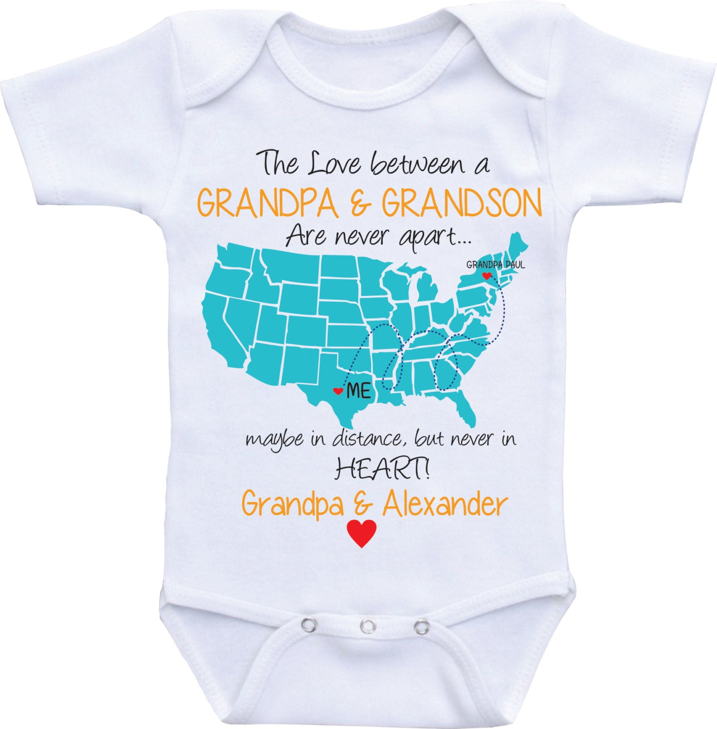 Personalized baby gifts state map onesies grandpa onsie zoom negle