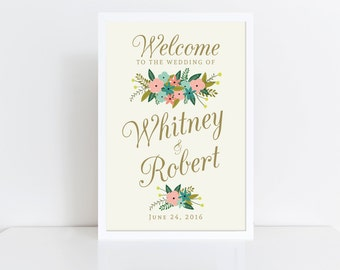 Wedding Welcome Sign  Welcome Wedding Sign  Vintage Wedding  Reception sign  Welcome Sign  Welcome Poster  Printed Poster