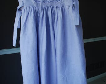 "Lavender girls' smocked dress with beads ""Sisterhood"""