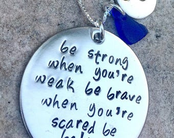 cancer necklace,inspirational necklace, fight back to cancer, be strong when you are weak, be badass everyday, cancer, hope, support, cancer