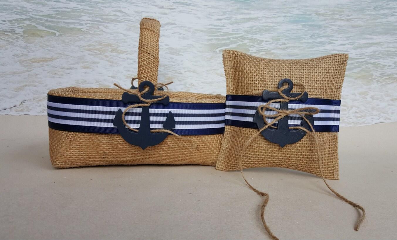 Anchored nautical flower girl basket ring bearer pillow zoom izmirmasajfo