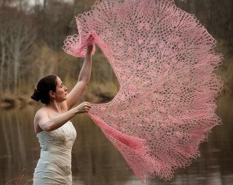 Luxury wedding knitted shawl, Hand knit lace shawl, Bridal mohair shawl, Boho wedding, Mohair silk hand knitted wrap, Bohemian shawl, Rustic