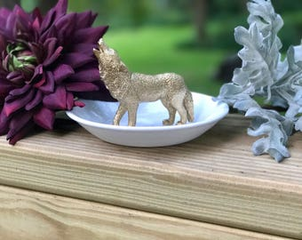 Wolf Ring Holder, Animal Jewelry Holder, Catch All, Jewelry Dish, Home Decor