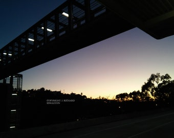 Dusk at El Monte Station