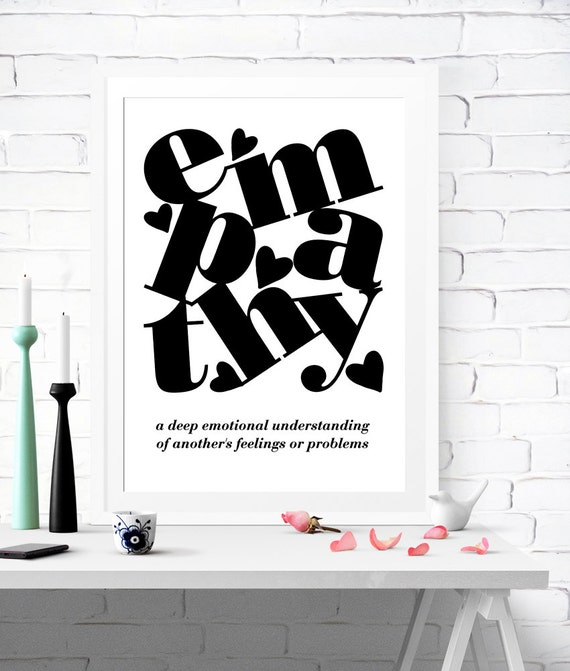 Empathy Definition Empathy Poster Empathy Prints Empathy