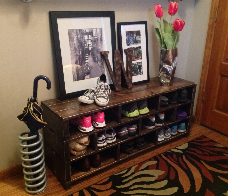 zoom Jenny Shoe Storage Bench Shoe Rack