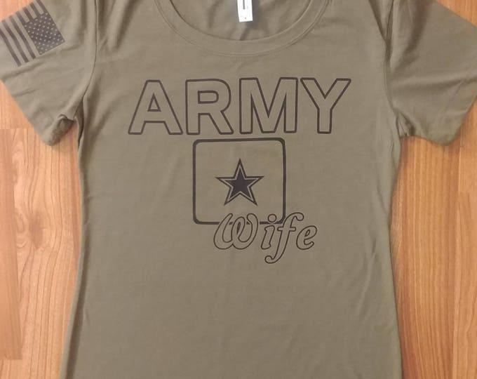 Army - Army Wife - Womens Army Shirt - Army Tshirt - National Guard - Army Wife Shirt - Army Mom - Short Sleeve Army Wife Shirt - US Army
