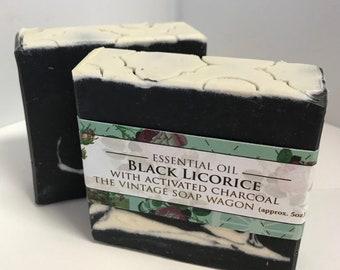 Black Licorice - Essential Oils Anise Star, Lemon and Clove Handmade Cold Process Soap