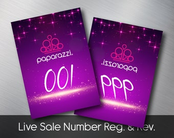 Paparazzi Facebook Normal & Reversed Live Sale Number Tag, whimsical, Free Personalized, Paparazzi Consultant Facebook Live Sale Number