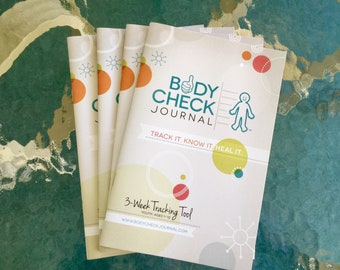Body Check Journal - Kid's Medical Tracking Health Journal 4 pack (3 week)