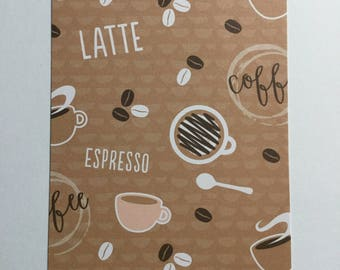 Coffee Lovers Unite! Personal Planner Dashboard with FREE Washi Sample for Kikki K, Filofax, Webster's Pages Color Crush Planner