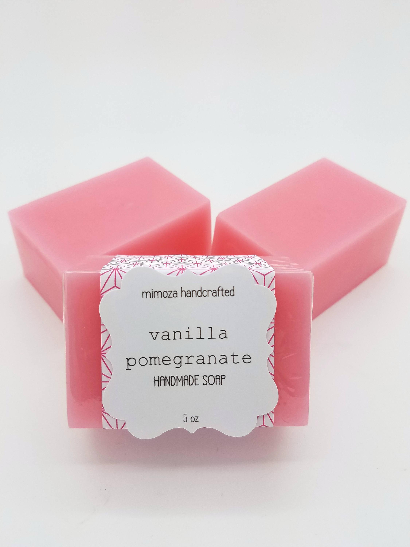 Pomegranate Vanilla Shea Butter Soap Handmade Soap Vegan