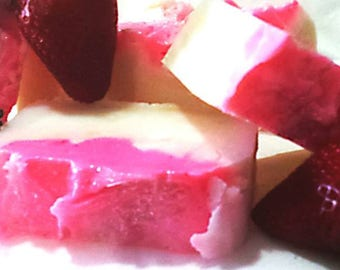 Champagne and Strawberry handmade soap