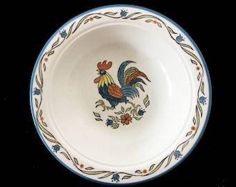 Metlox Poppytrail Rooster Serving Bowl