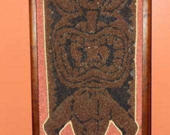 Tiki Gravel Art Vintage Wall Art Awesome Mid Century Exotic Decor Tiki Room Modern Decor