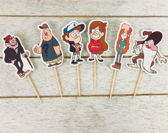 Gravity Falls Cupcake Toppers