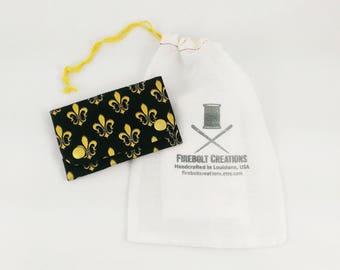 Fleur De Lis Wallet business card holder cajun navy nola gift louisiana new orleans slim women wallet canvas minimalist wallet vegan women