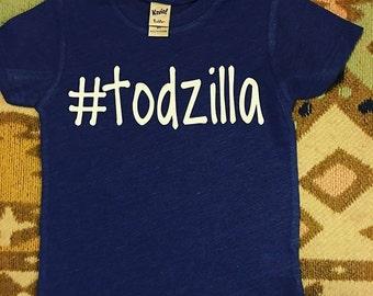 Todzilla kids tee