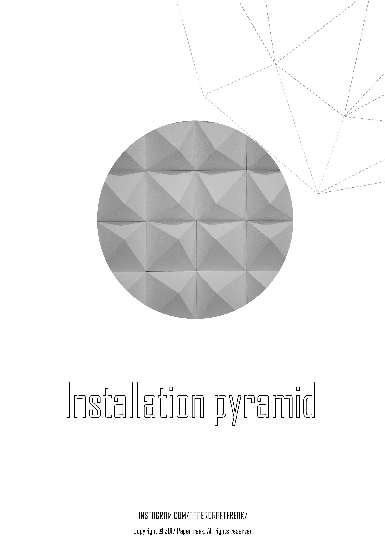 Installation pyramid templates pepakura papercraft low poly