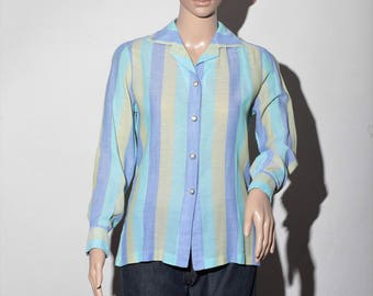 """Sean"" T40 60s striped shirt"
