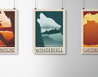 3 Series: Prints A3 game of Thrones | Poster