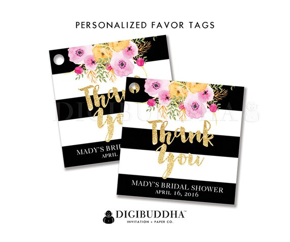Favor tags bridal shower favor tags thank you tags baby shower like this item negle Choice Image