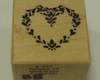 PSX B-835 Heart Of Hearts Wood Mounted Rubber Stamp By Personal Stamp Exchange